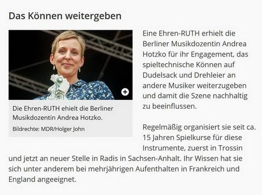 RUTH 2016, Andrea Hotzko, MDR