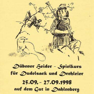1. Spielkurs für Dudelsack und Drehleier 1998
