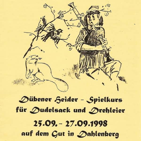 1.Spielkurs für Dudelsack und Drehleier 1998